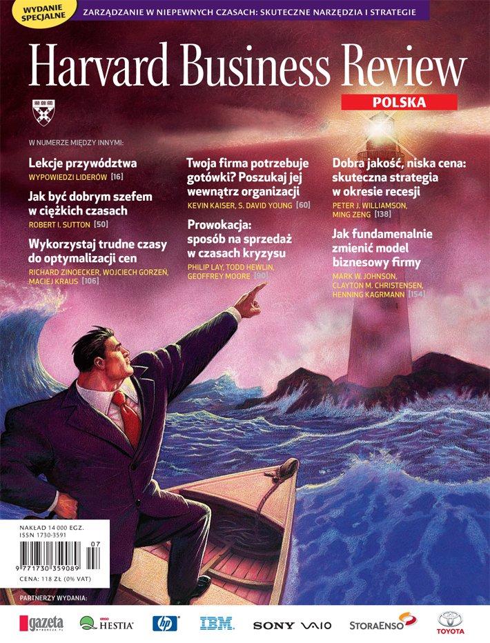 Harvard-Nr-77/78-lipiec-sierpień-2009-Zarządzanie wniepewnych czasach. Skuteczne narzędzia istrategie