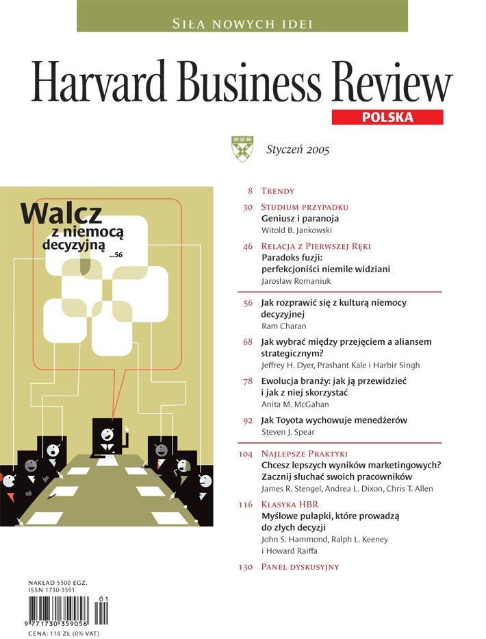 Harvard-Nr-23-styczeń-2005-Walcz zniemocą decyzyjną