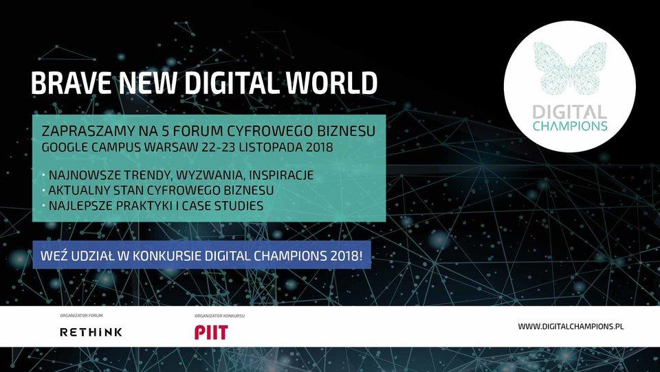 Trwają zapisy na konkurs oraz forum Digital Champions