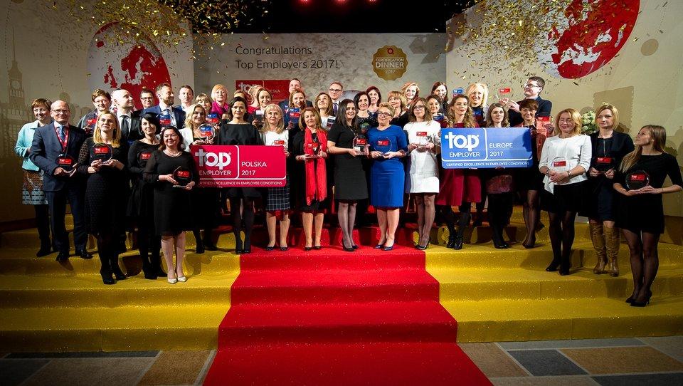 Top Employers Polska 2017: znamy 43 najlepszych pracodawców