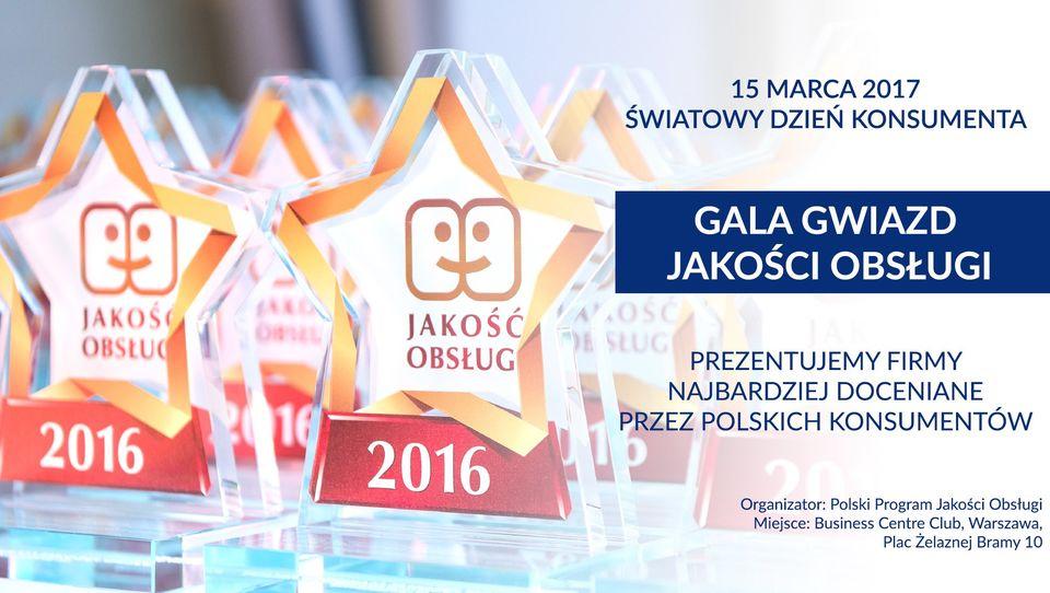 Gala Gwiazd Jakości Obsługi 2017