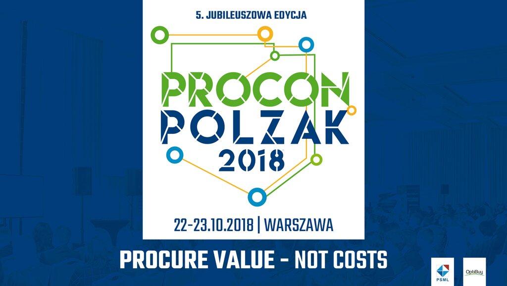 Największa konferencja zakupowa wPolsce obchodzi 5. Jubileusz – PROCON/POLZAK 2018